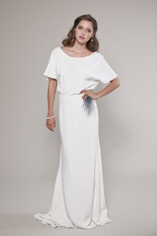 Non Traditional Wedding Dress Audrey Blouse And Descending Silk
