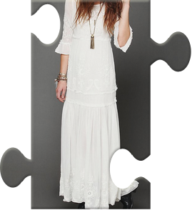 4870466f9760 Ophelia Eyelet Maxi Dress : Bohemian Beach Wedding Inspiration ...