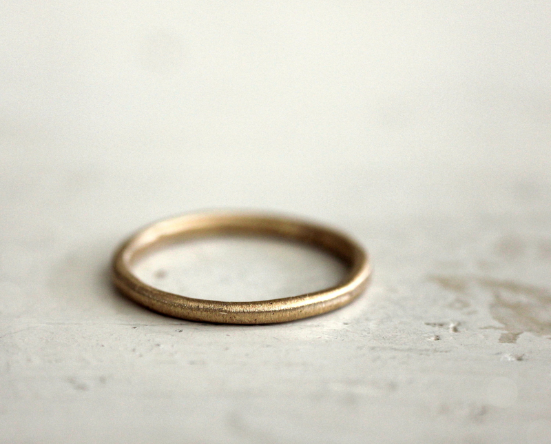 sophie simple gold wedding band